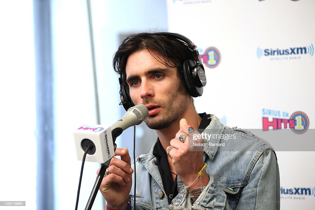 Lead singer Tyson Ritter of The All-American Rejects performs at the SiriusXM Studio on April 19, 2012 in New York City.