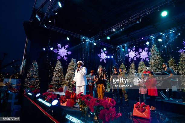 Lead Singer Victor Willis performs with the Village People at the 86th Annual Hollywood Christmas Parade on November 26 2017 in Hollywood California
