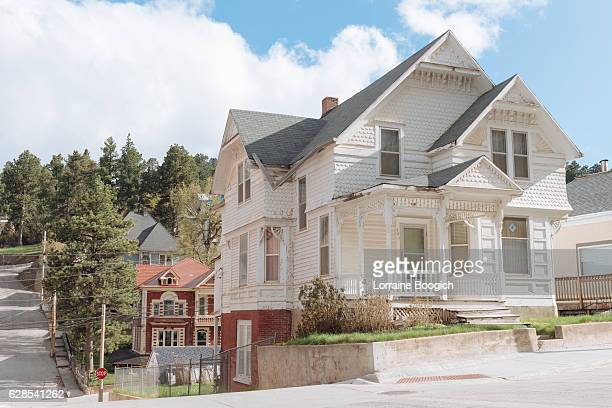 lead south dakota western architecture small town american history usa - black hills stock pictures, royalty-free photos & images