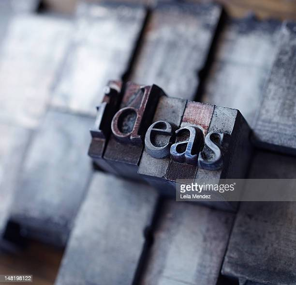 Lead type spelling ''ideas''