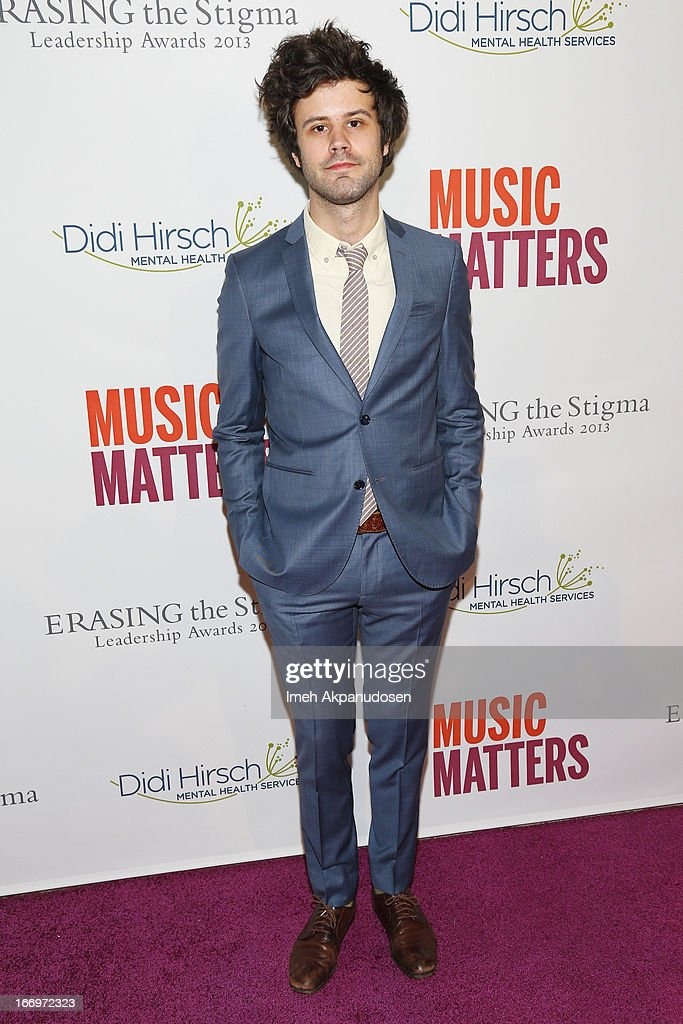 Lead vocalist Michael Angelakos of Passion Pit attends the 'Music Matters' 17th Annual Erasing The Stigma Awards Luncheon Presented By Didi Hirsch Mental Health Services at The Beverly Hilton Hotel on April 18, 2013 in Beverly Hills, California.