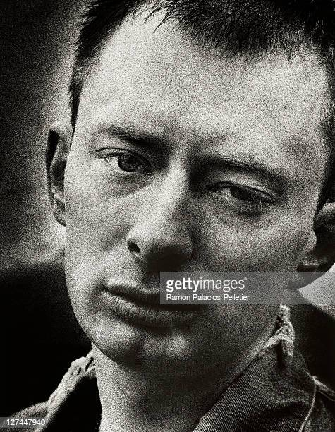 Lead vocalist of Radiohead Thom Yorke poses for a portrait at the Tibetan Freedom Concert in New York City June 1997