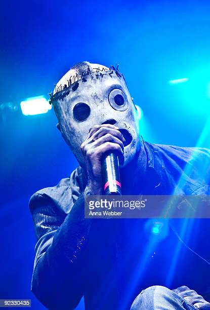 Lead Vocalist of Slipknot Corey Taylor performs at The Cypress Hill Smokeout on October 24 2009 in San Bernardino California