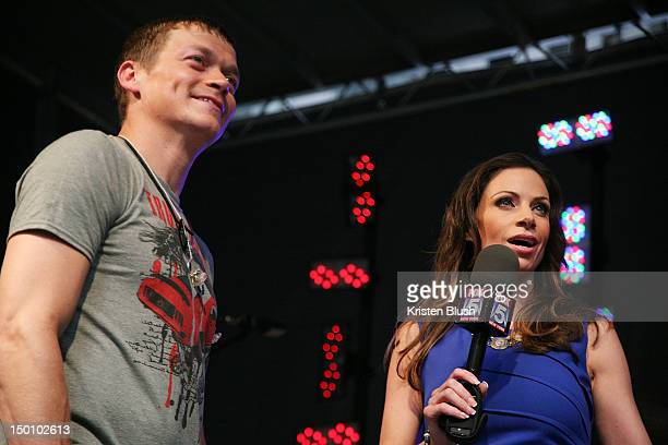 Lead Vocalist ofÊ3 Doors DownÊBrad Arnold is interviewed by Fox News Anchor Jill Nicolini during FOX Friends All American Concert Series at FOX...
