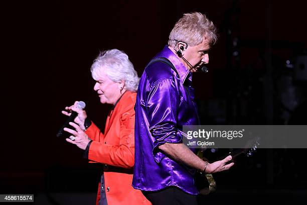 Lead vocalist Russell Hitchcock and guitarist Graham Russell of Air Supply perform at Thousand Oaks Civic Arts Plaza on November 7 2014 in Thousand...