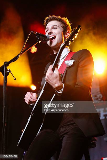 Lead vocalist Ryan Follese of Hot Chelle Rae performs onstage at The 3rd Annual Salvation Army Rock The Red Kettle Concert at Nokia Theatre LA Live...