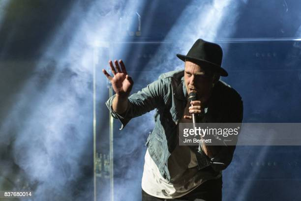 Lead vocalist Ryan Tedder of OneRepublic performs live on stage at White River Amphitheatre on August 22 2017 in Auburn Washington