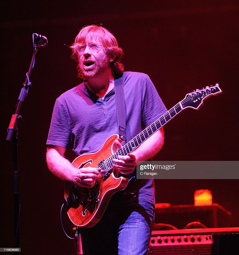 Lead Vocalist/Guitarist Trey Anastasio of Phish performs during the 2009 Bonnaroo Music and Arts Festival on June 14, 2009 in Manchester, Tennessee.