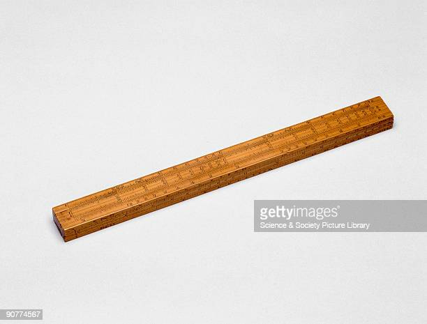 Leadbetter slide rule c 1700 Leadbetter slide rule made from boxwood