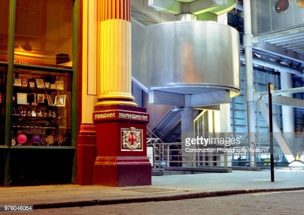 Leadenhall Market and Lloyds Building London United Kingdom