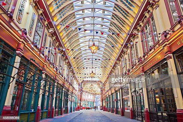 leadenhall market in london, england - leadenhall market stock photos and pictures