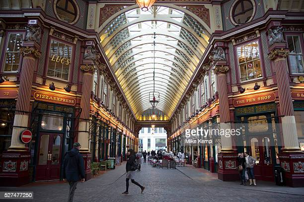 Leadenhall Market in the City of London Located in Gracechurch Street the market dates back to the fourteenth century There are cheesemongers...