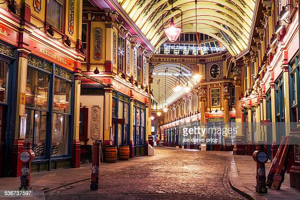 leadenhall market, london, england - leadenhall market stock photos and pictures