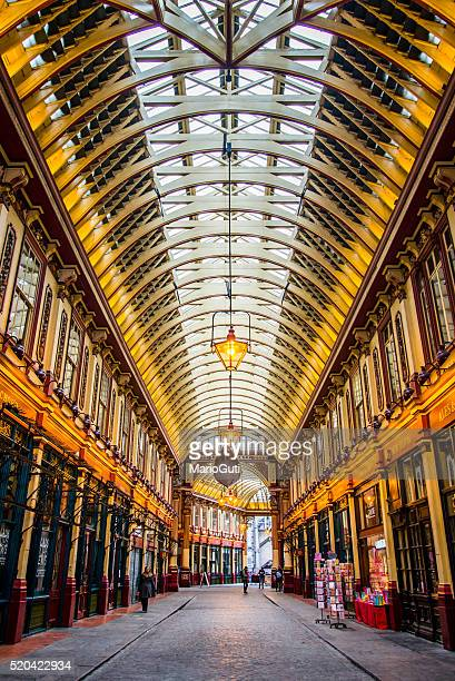 leadenhall market, london - leadenhall market stock photos and pictures