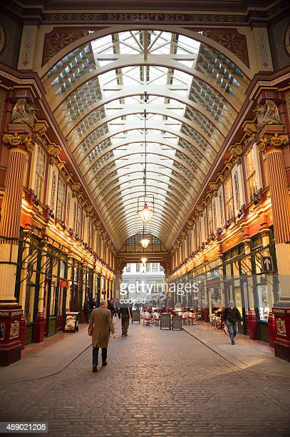 leadenhall market, london, uk - leadenhall market stock photos and pictures