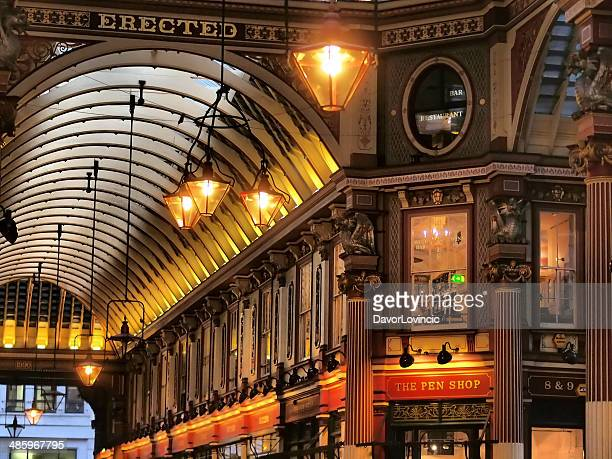 leadenhall market - shoreditch stock photos and pictures