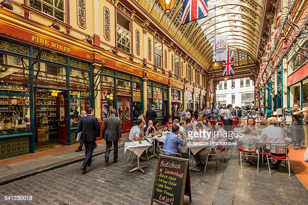 leadenhall market - leadenhall market stock pictures, royalty-free photos & images
