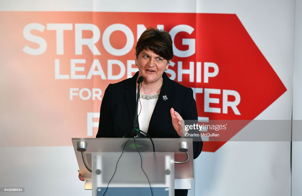 Arlene Foster Launches The DUP's Election Manifesto