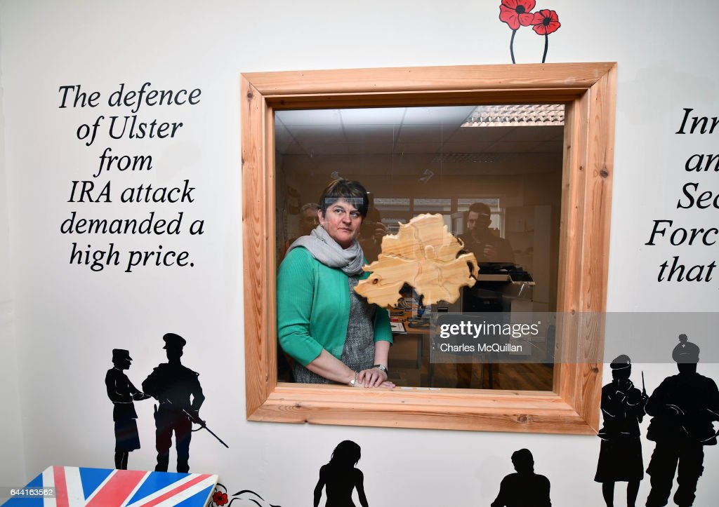 Arlene Foster Campaigns For The DUP Ahead Of The Northern Irish Election