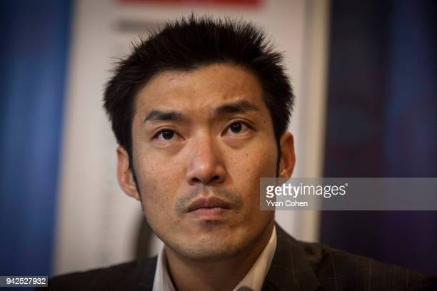 Leader and founder of the Future Forward party, Thanathorn Juangroongruangkit seen here at a presentation at Thailands Foreign Corespondents Club ....