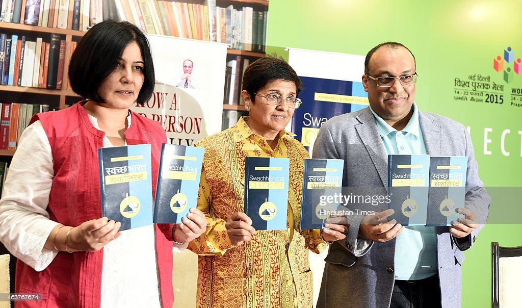 Kiran Bedi Launches Books At World Book Fair : News Photo