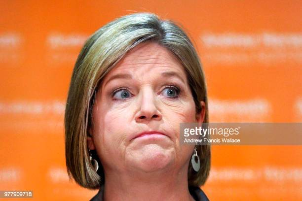 Leader Andrea Horwath speaks to media in Toronto June 14 2018