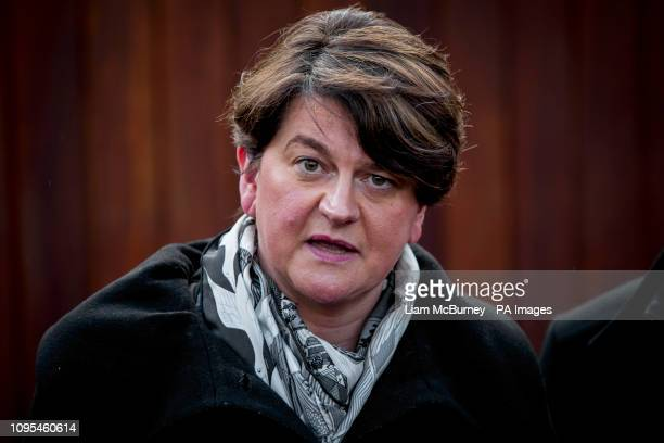 DUP leader Arlene Foster after meeting Taoiseach Leo Varadkar at the Irish Goverment residence in Belfast Northern Ireland