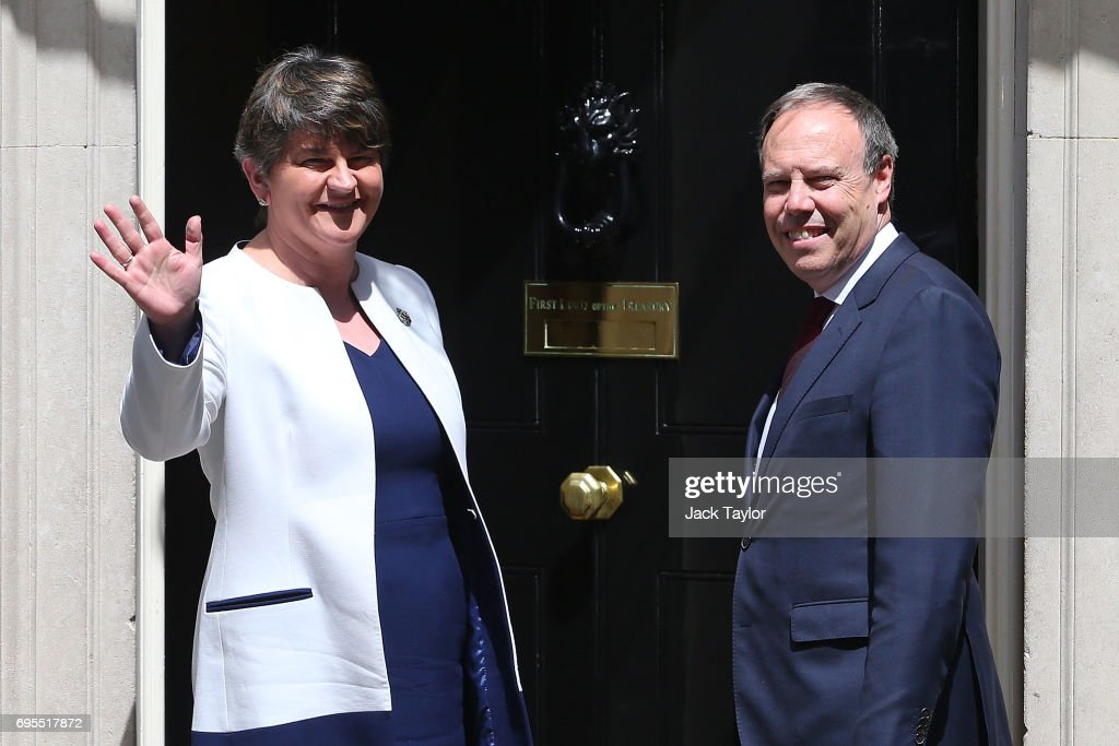 Prime Minister Theresa May Hosts Talks With DUP Leader Arlene Foster