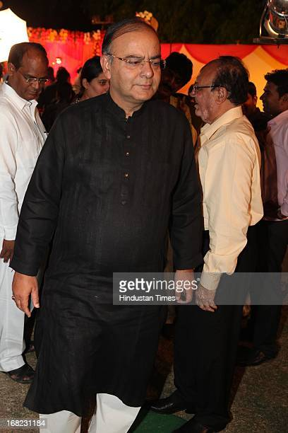 Leader Arun Jaitley at the Wedding ceremony of Lawyer Ashok Basoya and ex Delhi University Student Union president Ragini Nayak on May 5 2013 in New...