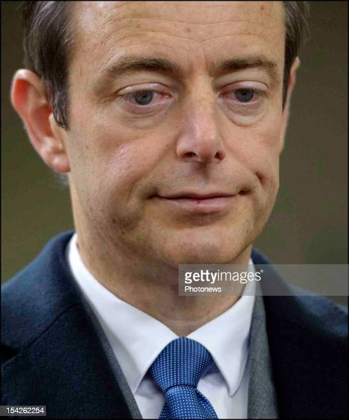Leader Bart De Wever after his victory at the Communal Elections in Anwterpen on October 14, 2012 in Anwterpen, Belgium.Bart De Wever will now become...