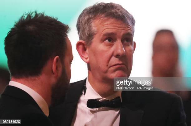 Leader Colum Eastwood and DUP MLA Edwin Poots chat at the American Ireland Gala Fund dinner in Washington DC