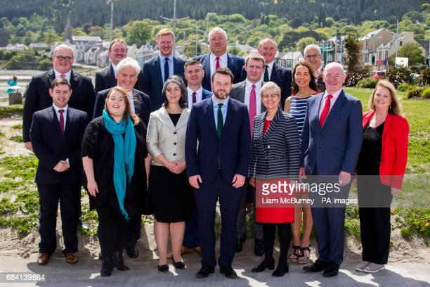 SDLP leader Colum Eastwood with members of the party after the SDLP launch their Election campaign at the Newcastle Centre Co Down Pictured are...