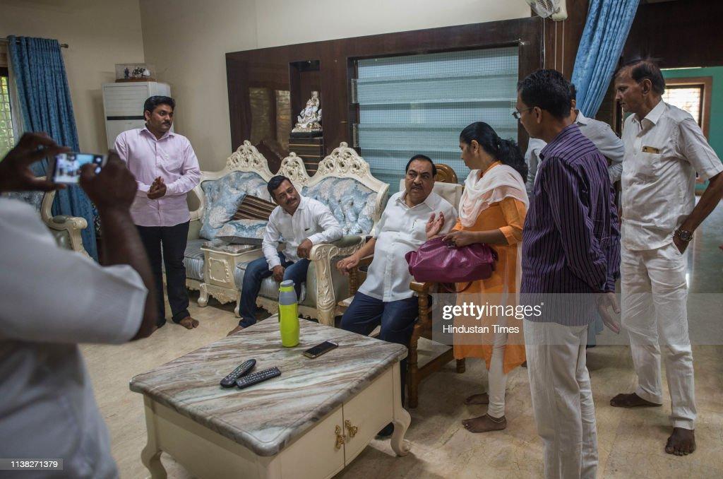 IND: BJP Leader Eknath Khadse Meets People And Party WorkersNagpur