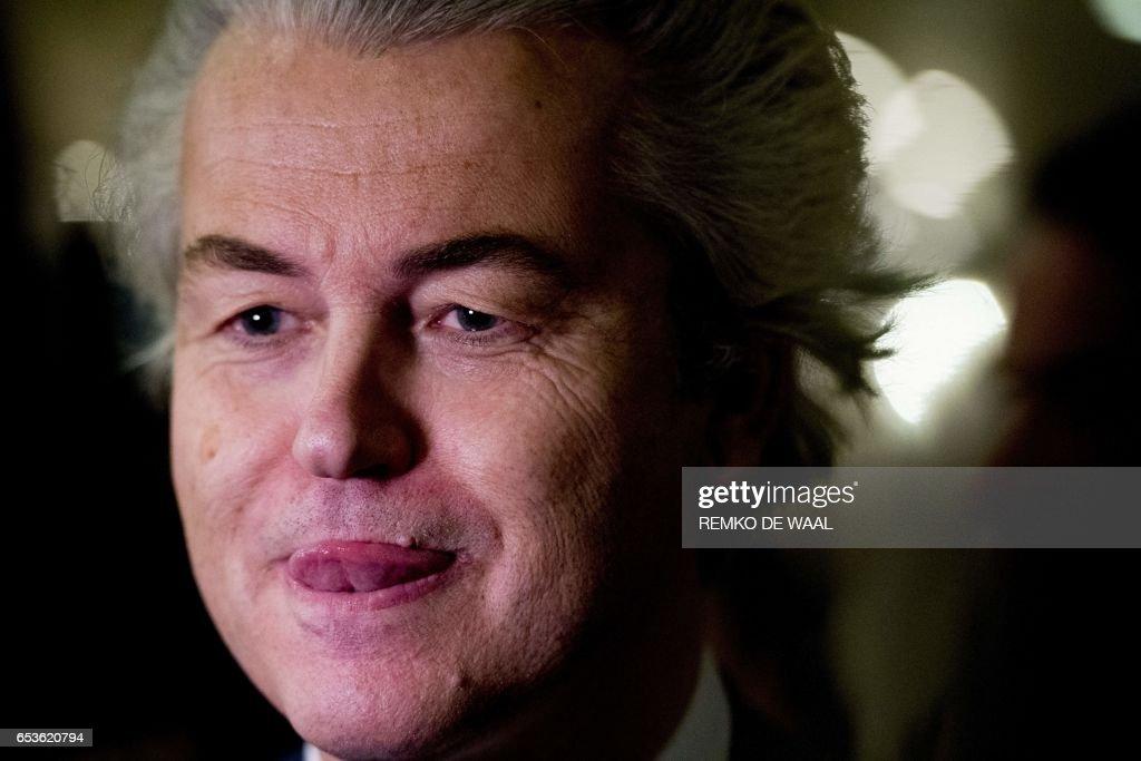 TOPSHOT-NETHERLANDS-ELECTION : ニュース写真