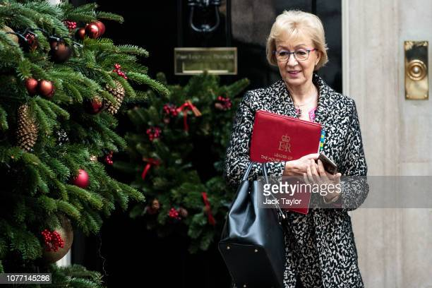 Leader House of the Commons Andrea Leadsom leaves 10 Downing Street after Government Ministers attended a weekly cabinet meeting ahead of a...