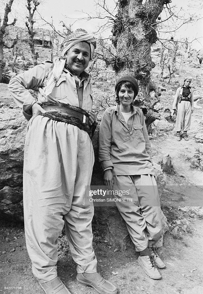 PUK Leader Jalal Talabani with His Wife Hero : News Photo