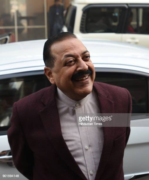 BJP leader Jitender Singh during the last day of the parliament winter session at Parliament House on January 5 2018 in New Delhi India The last day...