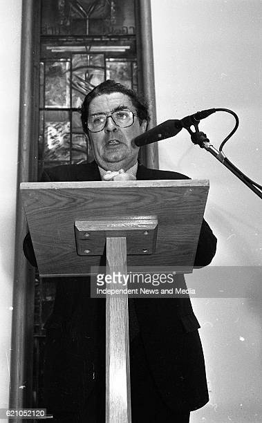 Leader John Hume in Dublin Castle at the reception to introduce his book 'Personal Views' Politics Peace and Reconciliation in Ireland
