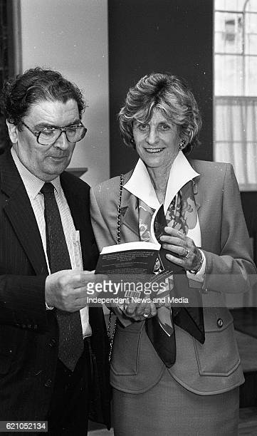 Leader John Hume with American Ambassador Jean Kennedy Smith in Dublin Castle at the reception to introduce his book 'Personal Views' Politics Peace...