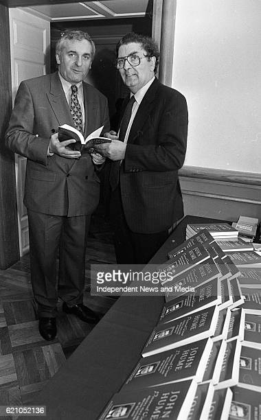 Leader John Hume with Bertie Ahern in Dublin Castle at the reception to introduce his book 'Personal Views' Politics Peace and Reconciliation in...