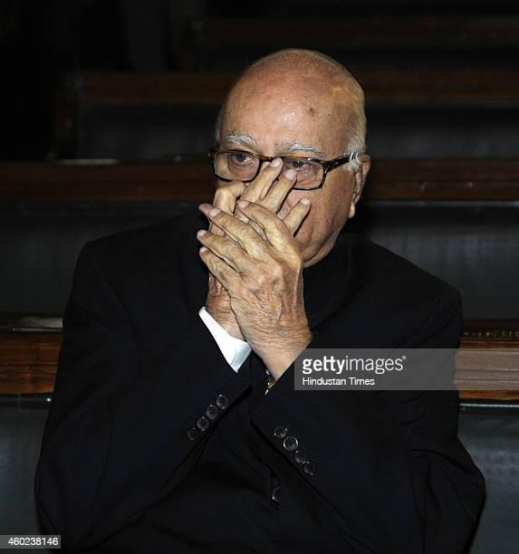BJP leader Lal Krishna Advani during a function to pay tribute to Bharat Ratan C Rajagopalachari on his birth anniversary at Central Hall of...