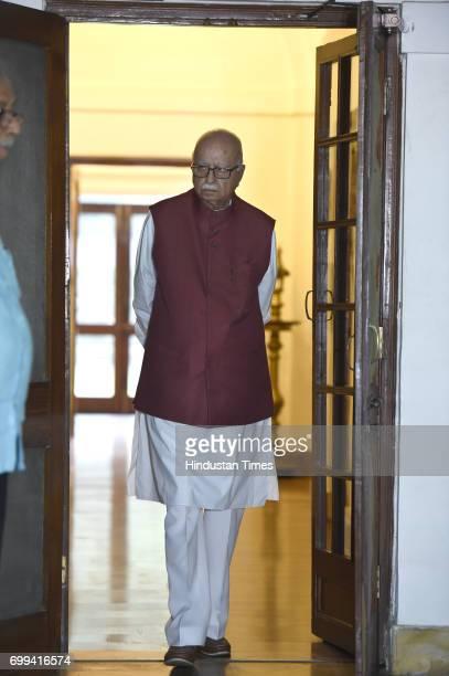 BJP leader LK Advani at residence before meeting with NDA Presidential candidate Ram Nath Kovind on June 21 2017 in New Delhi India