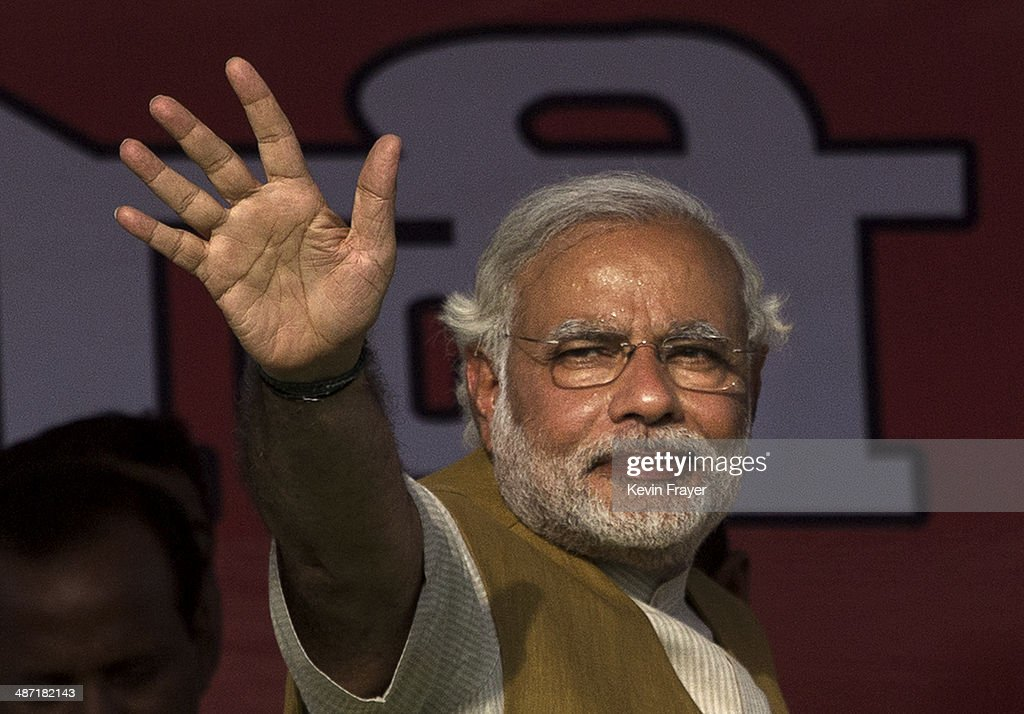 BJP's Narendra Modi Campaigns In Punjab : News Photo