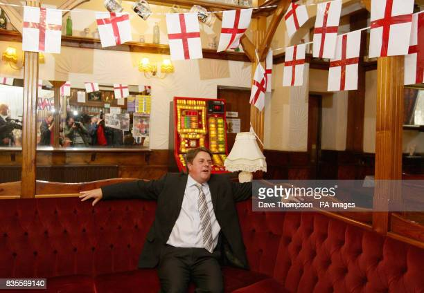 BNP Leader Nick Griffin at the Ace of Diamonds pub in the Miles Platting area of Manchester during a news conference