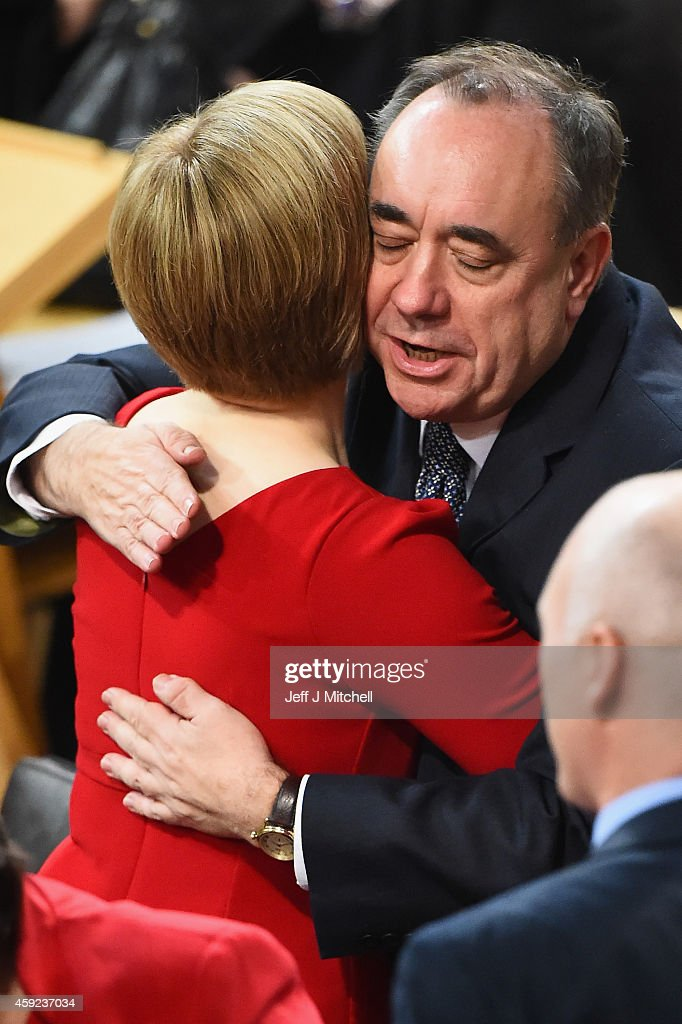 Nicola Sturgeon Is Voted In As Scotland's First Minister : News Photo