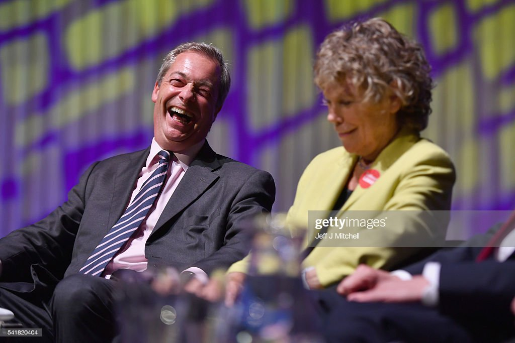 """Nigel Farage And Kate Hoey Hold Public """"We Want Our Country Back"""" Meeting : News Photo"""