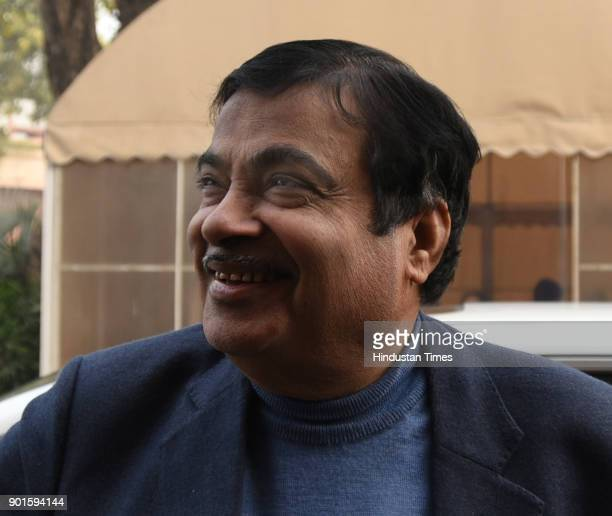 BJP leader Nitin Gadkari during the last day of the parliament winter session at Parliament House on January 5 2018 in New Delhi India The last day...