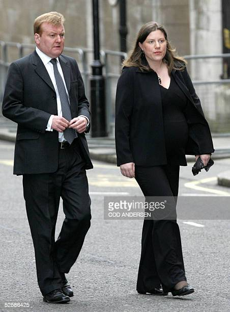 Leader of Britain's Liberal Democrat Party Charles Kennedy and his wife Sarah arrive for a memorial Mass for Pope John Paul II at Westminster...
