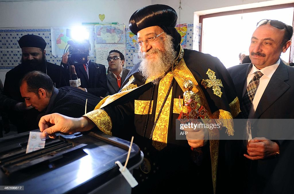 EGYPT-POLITICS-UNREST-VOTE-TAWADROS : News Photo