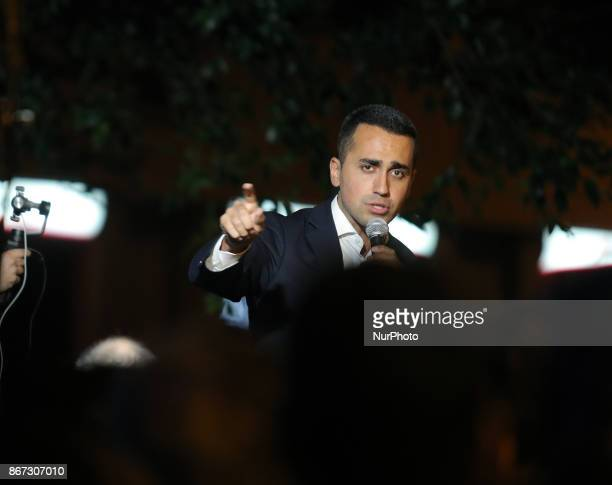 Leader of Five Star Movement Luigi Di Maio meets the citizens in Messina Italy on October 27 2017 during the electoral campaign in Sicily